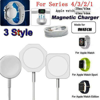 $ CDN8.28 • Buy For Apple Watch Series 1/2/3/4 38-44mm Magnetic Fast Charger Pad Charging Cable