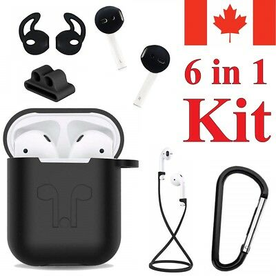 $ CDN11.95 • Buy For Apple AirPods 6 In 1 Accessories Air Pod Kit Silicone Cover AirPod Case