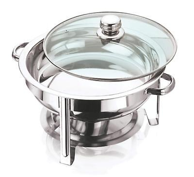 Stainless Steel Chafing Dish Set - Round Table Top Food Warmer 4.5 Litre • 25.75£