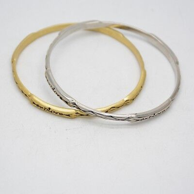 $ CDN8.85 • Buy Lia Sophia Unique Gold Tone Silver Plated Bracelet Character EXPLORE Bangle