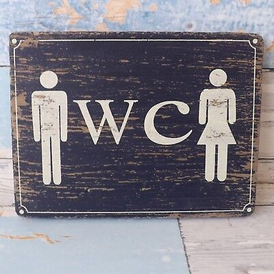 Rustic Nautical Beach Blue Wooden Plaque Ladies & Gents WC Toilet Loo Sign • 6.95£