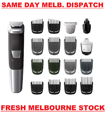 AU89.99 • Buy Philips Norelco Multigroom Series 5000 18-in-1 Head To Toe Trimmer MG5750/49 NEW