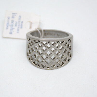 $ CDN11.27 • Buy Size 5 6 7 8 9 11 Lia Sophia Signed Jewelry Antique Silver Plated Openwork Ring
