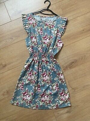 £15 • Buy Hearts And Bows Size Small Floral Blue Dress