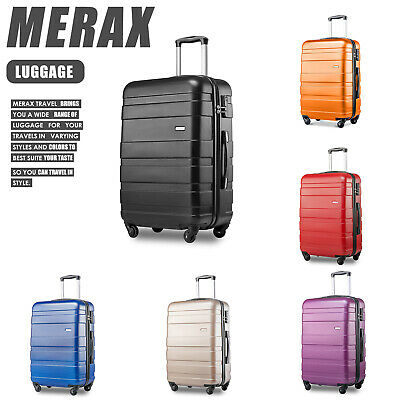 Hard Shell Trolley Suitcase 4 Wheel Spinner Lightweight Luggage Travel Case  • 59.99£