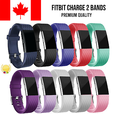$ CDN5.95 • Buy For Fitbit Charge 2 Band Replacement Straps Silicone Small Large Black Bands
