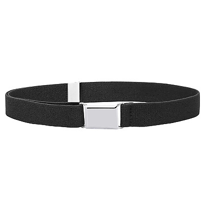 $10.98 • Buy Buyless Fashion Kids Toddlers Baby Adjustable Elastic Stretch Belt Silver Buckle