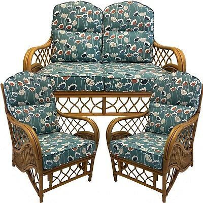 £170 • Buy Replacement Cushions Or Covers For Conservatory Cane Wicker Furniture (Piped)