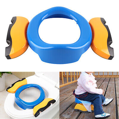 Kid Potty Training Travel Portable Foldable Toddler Toilet Safe Seat Plastic NEW • 7.67£