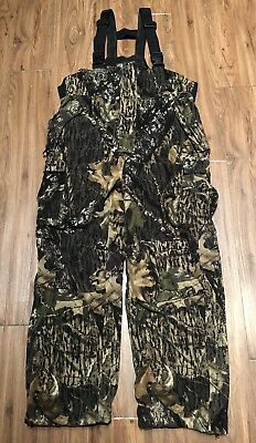 293d993264103 CABELAS Super Slam Fleece Hunting Camo Bibs Overalls Men Large Reg LR •  44.99$
