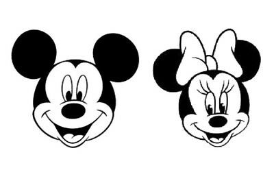 Minnie And Mickey Mouse Stickers Decal Vinyl Silhouette Art Glass Car Metal Wall • 3.99£