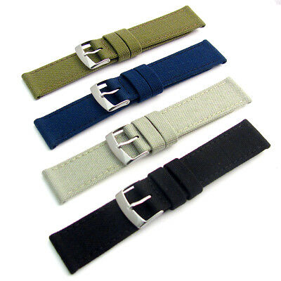£11.99 • Buy Replacement Watch Strap CORDURA Fabric Leather Lining 4 Colours 18mm - 24mm