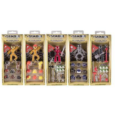 StikBot Action Pack Set Weapon Hair Styling Playset *** Choice Of Figures ***NEW • 16.90£