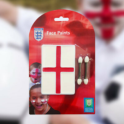 Red White England Flag Face Paint Set W/ Applicator St George Day Cricket Rugby • 1.49£