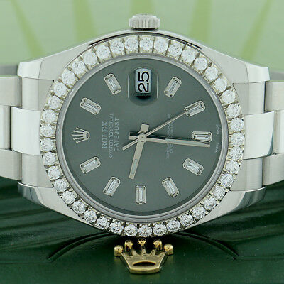$ CDN16200.80 • Buy Rolex Datejust II 41MM Oyster W/Baguette Diamond Dial & Bezel Box&Papers