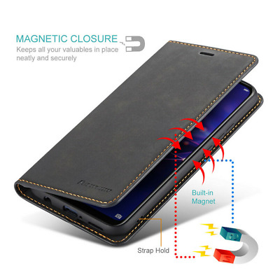 $ CDN7.99 • Buy For Samsung Galaxy S10 S9 S8 Plus Magnetic Leather Wallet Flip Stand Case Cover