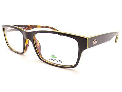 79fd72633107 LACOSTE Unisex Black Over Brown 53mm Optical Spectacles Glasses Frame L2705  002 • 77.27