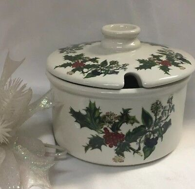 Portmeirion The Holly And The Ivy Cranberry Dish/relish Jar **NEW** • 48.50$