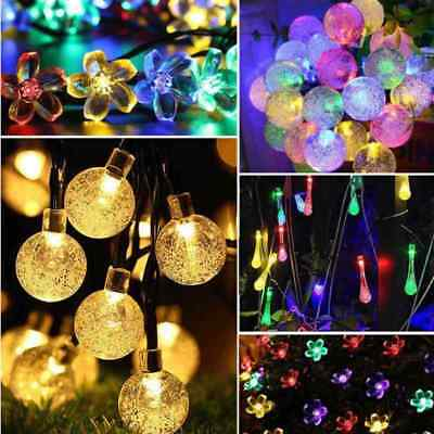 50 100 200 LED String Solar Powered Fairy Lights Garden Christmas Party Outdoor • 8.99£