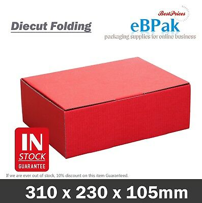 AU29.95 • Buy Mailing Box - RED Colour 310x220x102mm Shipping Carton A4 B2 BX2 Size Gift Box