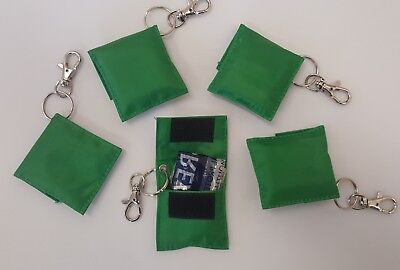£44.99 • Buy Disposable Mouth-To-Mouth Resuscitation Aid Face Shield In Green Keyring Pouch