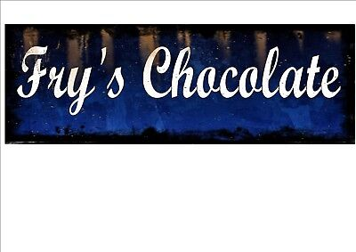 £8 • Buy Fry's Chocolate Advertising Sign Vintage Style Sign Retro Vintage Shop Sign