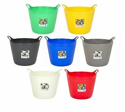 40L Flexi Tubs Storage Baskets Bin Bag Laundry Garden Plastic Assorted Colour • 12.99£