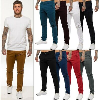 View Details  Enzo Mens Designer Chinos Stretch Skinny Slim Fit Jeans Trouser Pants All Sizes • 13.99£