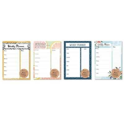 £2.29 • Buy A4 Weekly Planner - Meal List To Do Shopping Desk Note Pad Home Office Plan
