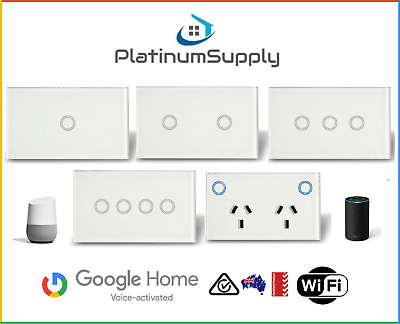 AU55 • Buy WiFi Touch Switch Google Alexa Smart Home Automation Light LED Power Point GPO