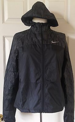 7ff0c27ad  125 NWT Womens Nike 799885 Shield Flash Printed Full Zip Running Jacket  Black • 79.95