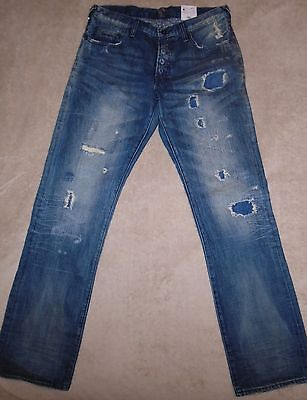 PRPS GOODS & CO. BARRACUDA Stitched Repaired Patched Mens 34 Jeans $395+ SALE! • 144.72£