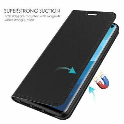 $ CDN7.64 • Buy For Samsung Galaxy S10 S9 S8 Plus Flip Leather Magnetic Wallet Stand Case Cover