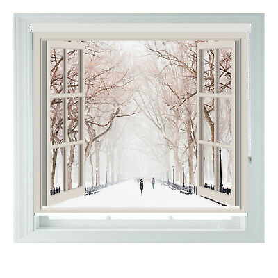 New York Winter Window Printed Photo Black Out Roller Blinds 2 3 4 5ft • 65£