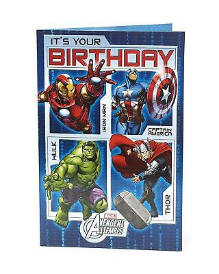 Disney Marvel Avengers Birthday Boy Card - Iron Man, Hulk, Captain America, Thor • 4.49£
