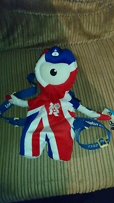 Official London 2012 Olympics: Wenlock Union Jack Backpack **BNWT** New With Tag • 9.99£
