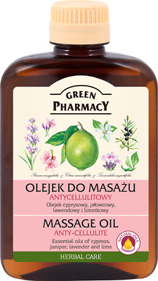 Green Pharmacy Body Massage Oil Anti Cellulite Smoothes Elastizies Skin 200ML • 6.99£