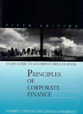 £4.01 • Buy Principles Of Corporate Finance: Study Guide To 5r.e-Richard A. Brealey, Stewar