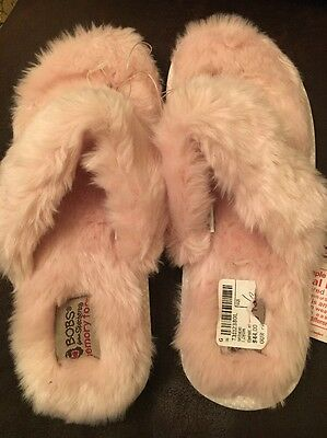 Bobs By Skechers Women US 6 Pink Slippers New • 10.85£