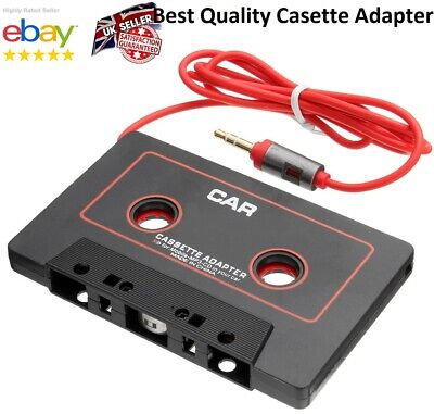 £3.49 • Buy Car Cassette Casette Tape MP3 MP4 Player CD IPod IPhone 3.5mm AUX Audio Adapter