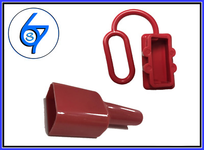 AU6.50 • Buy Dust Cap Cover Red And Waterproof Sleeve  For Anderson Plug 50 Amp