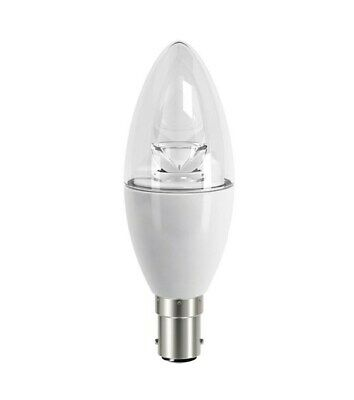 2, 3,4 XDiall LED 6.2W = 40W Candle Bulb B15 SBC 470Lm 2700K WARM WHITE Dimmable • 22.95£