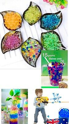 AU1.99 • Buy Orbeez Mixed Colours Crystal Water Plant Beads Bio Hydro Gel Ball Decorations