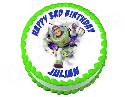 £6.51 • Buy Buzz Lightyear Toy Story Round Edible Cake Image Topper