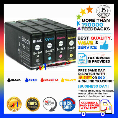 AU26.50 • Buy 4 X YYUDA NoN-OEM E-786XL Ink Cartridge For Epson Workforce Pro WF-4630 WF-4640
