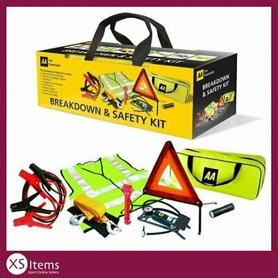 View Details AA In Car Essentials 8 Piece Breakdown/Roadside Vehicle Car Safety Kit Europe UK • 20.99£