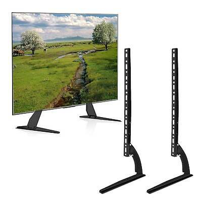 Universal TV Pedestal Stand For 17-50 Inch Table TV Base Monitor Riser LCD LED • 14.99£