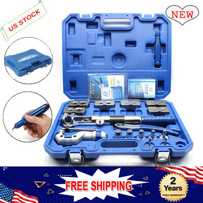 Steel Hydraulic Pipe Expander Kit Pipe Fuel Line Flaring Tool Set US Stock • 338.47$