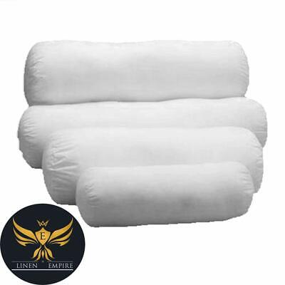 Round Hollowfibre Pillow Cervical Roll Neck Back Knee White Bolster Pillow  • 6.49£