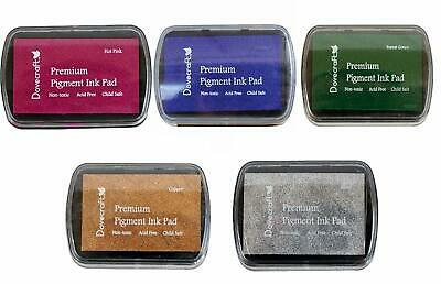 Set Of 5 DOVECRAFT PIGMENT INK PADS Rubber Stamping MODERN CHRISTMAS Colours • 8.99£
